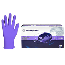 Kimberly-Clark KC500 - Nitrile Powder Free Exam Gloves Purple, 55083 Large, 100 per box