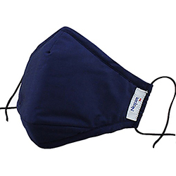 3M 8550 Nexcare Comfort Mask Washable, Navy Blue, Large