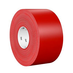 3M Ultra Durable Floor Marking Tape 971, Red, 4 in x 36 yd, 33 mil, 1 roll per case