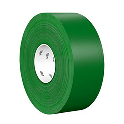 3M Ultra Durable Floor Marking Tape 971, Green, 3 in x 36 yd, 33 mil, 1 roll per case