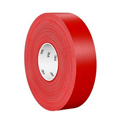 3M Ultra Durable Floor Marking Tape 971, Red, 2 in x 36 yd, 33 mil, 1 roll per case