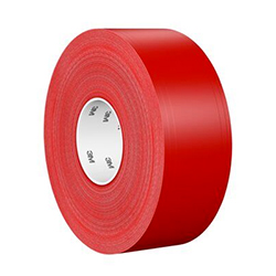 3M Ultra Durable Floor Marking Tape 971, Red, 3 in x 36 yd, 33 mil, 1 roll per case