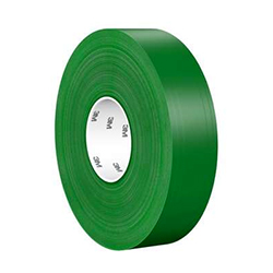 3M Ultra Durable Floor Marking Tape 971, Green, 2 in x 36 yd, 33 mil, 1 roll per case