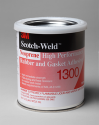 3M Scotch-Weld Neoprene High Performance Rubber And Gasket Adhesive 1300 Yellow, 1 Pint, 12 per ca