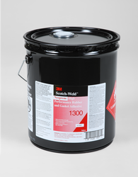 3M Scotch-Weld Neoprene High Performance Rubber And Gasket Adhesive 1300 Yellow, 5 Gallon Pail, 1