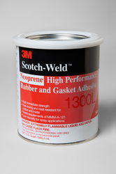 3M Scotch-Weld Neoprene High Performance Rubber and Gasket Adhesive 1300L Yellow, 1 qt, 12 per cas