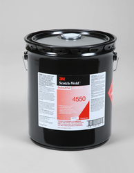 3M Scotch-Weld Industrial Adhesive 4550 Translucent, 5 gal pail, 1 per case
