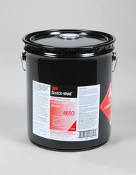 3M Scotch-Weld High Performance Industrial Plastic Adhesive 4693 Light Amber, 5 gal pail, 1 per ca