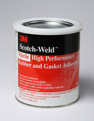 3M Scotch-Weld Nitrile High Performance Rubber And Gasket Adhesive 847 Brown, 1 Gallon, 4 per case